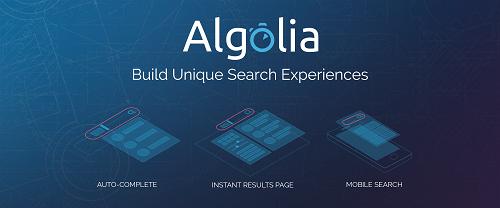 Website tìm kiếm Algolia mới đuọc gây quỹ. Ảnh: Techmeme.