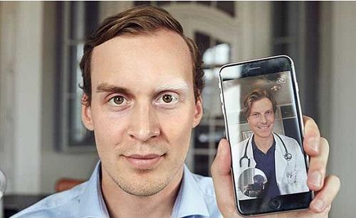 Bệnh nhân được khám bệnh bởi đội ngũ bác sĩ giàu chuyên môn qua KRY. Ảnh: TechCrunch.