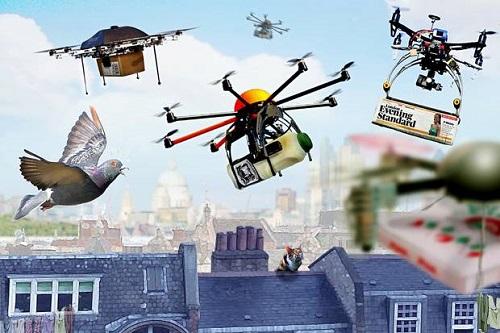 Máy bay drone dùng trong vận chuyển của tương lai. Ảnh:livescience