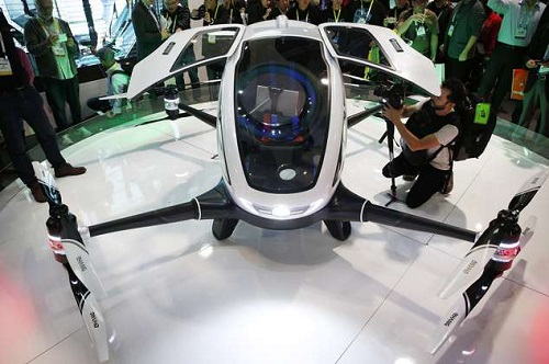 Chiếc máy bay không người lái có thể chở người của Ehang. Ảnh: Dronethusiast