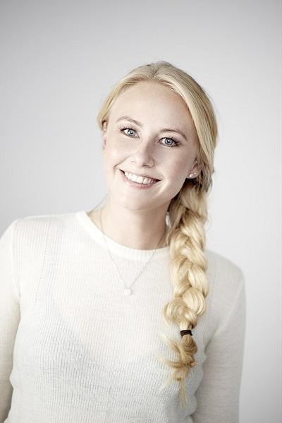 Camilla Hessellund Lastein, nữ CEO 24 tuổi của dự án sách giáo khoa điện tử Lix. Ảnh: Independent.