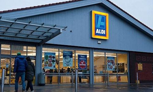 Hệ thống siêu thị Aldi có hơn 3.200 chi nhánh tại Đức và 50.000 nhân viên. Ảnh: AFP.