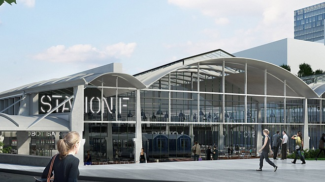 Vườn ươm Station F, nơi hỗ trợ 1.000 dự án khởi nghiệp. Ảnh: Finacial Times.
