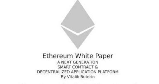 Giao diện sách trắng của Ethereum.