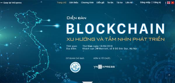Giao diện chuyên trang về Blockchain.