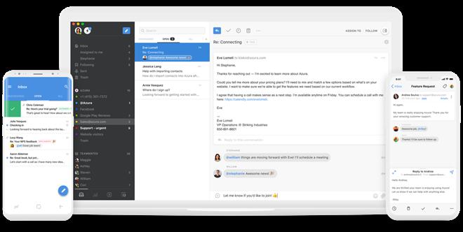 Thay vì việc nhìn thấy một danh sách dài các email trong hộp thư đến, người dùng có thể tổng hợp tất cả các email về một nội dung công việc hoặc một phòng ban vào trong một hòm thư chung và cùng trao đổi với nhau. Ảnh: TechCrunch