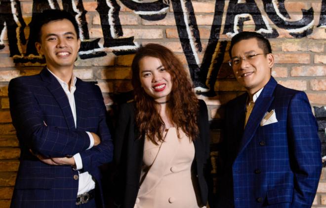 Ba đồng sáng lập Small Vacancy Lai Hồng Lĩnh, Trương Thoại Yến và Nguyễn Thế Hiếu. Ảnh: NVCC.