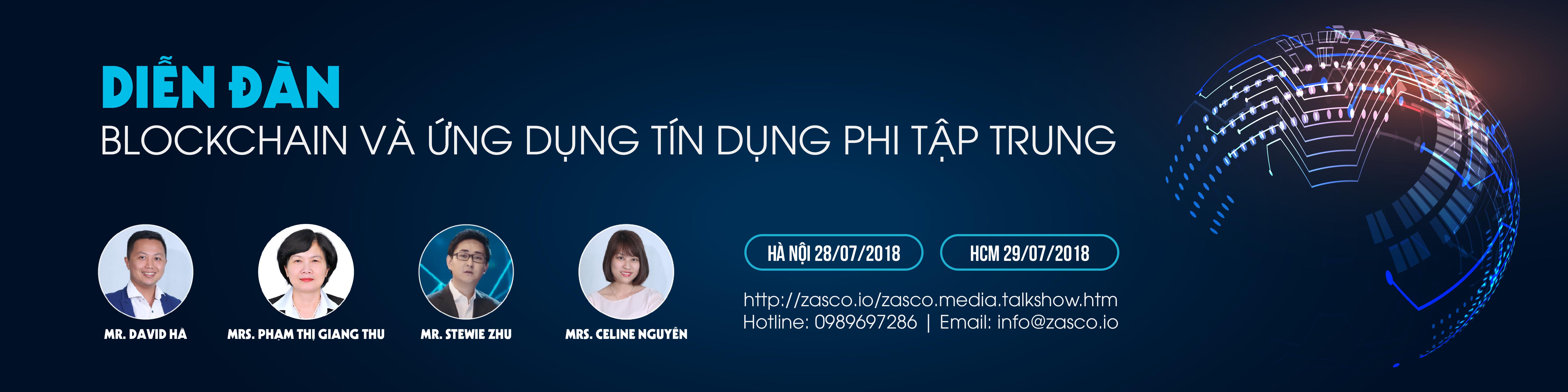 Diễn đàn Blockchain & Ứng dụng tín dụng phi tập trung 2018 (TP. Hà Nội)