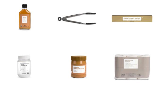 Các mặt hàng của Brandless đều được thiết kế đơn giản và không có thương hiệu. Ảnh: Bloomberg