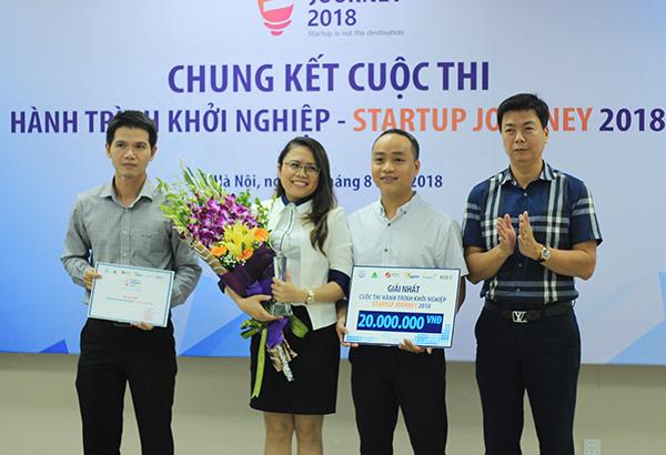 LOGLAG đạt giải nhất Hành trình khởi nghiệp - Startup Journey 2018. Ảnh: Hà Trương
