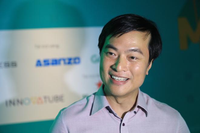 Ông Phạm Duy Hiếu đánh giá cao những startup có nhiều kinh nghiệm và bài học. Ảnh: Hữu Khoa.