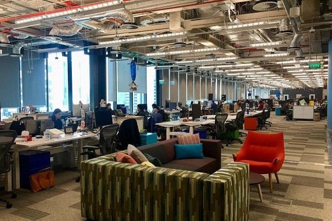 Văn phòng mới của Facebook tại Singapore.