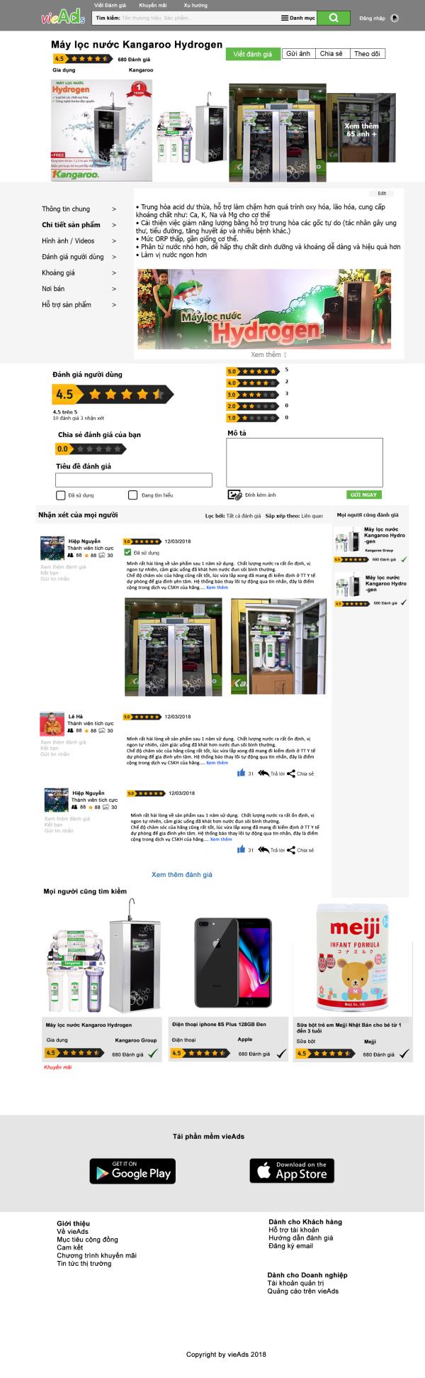 Vieads - Cộng đồng đánh giá trực tuyến
