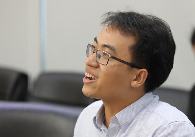 Nhà sáng lập Datamart Bùi Hải Nam tham vọng mở rộng phần mềm Powersell ra các vùng lãnh thổ khác trong vài năm tới. Ảnh: Thành Nguyễn.