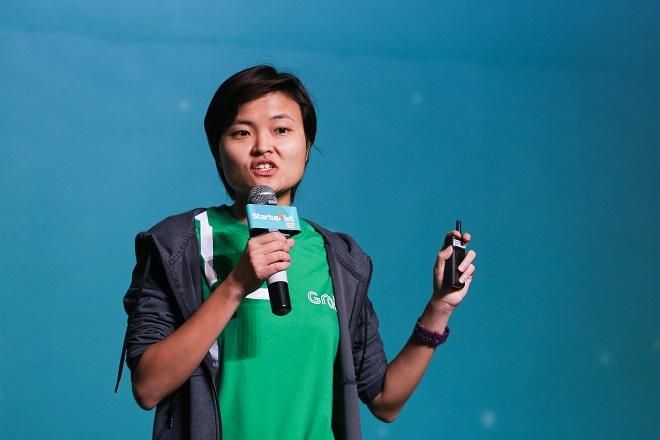 Hooi Ling Tan chia sẻ tại Chung kết Startup Việt 2018 do VnExpress tổ chức. Ảnh: Quỳnh Trần.