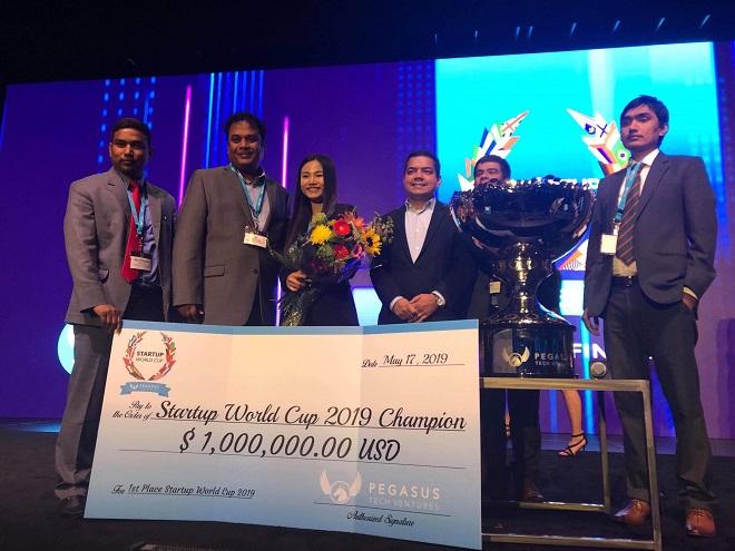 Abivin chiến thắng giải thưởng 1,000,000 USD tại Startup World Cup. Ảnh: Techfest Vietnam