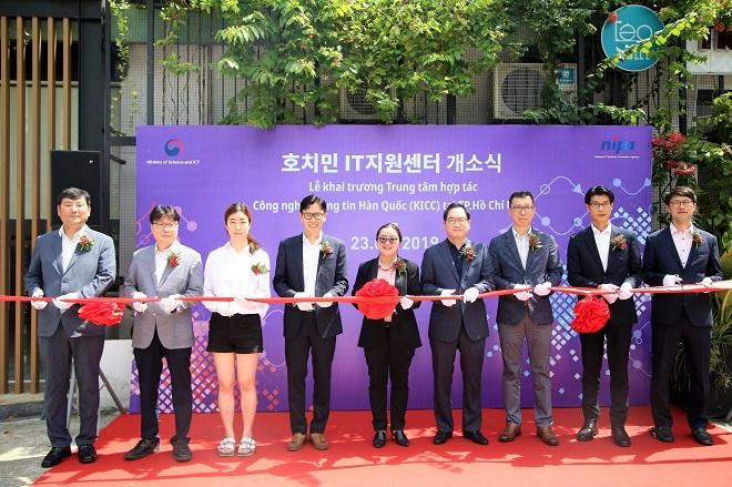 Lễ khai trương Cơ quan xúc tiến công nghiệp công nghệ thông tin quốc gia Hàn. Ảnh: BSSC.