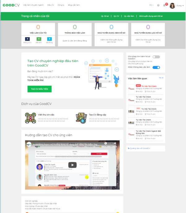 GoodCV - Nền tảng kết nối việc làm toàn cầu