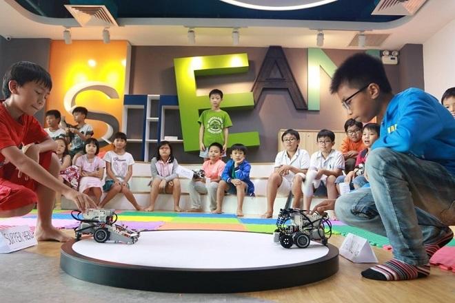 Trại hè công nghệ là một trong những hoạt động thú vị được nhiều em học sinh yêu thích tại TEKY.