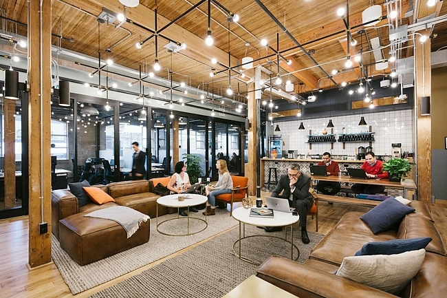 Mô hình văn phòng làm việc chung cho các công ty khởi nghiệp của Wework.