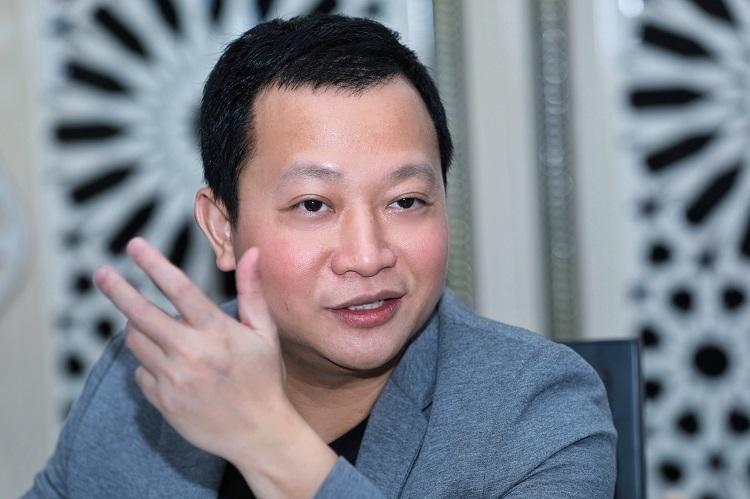 Ông Trần Ngọc Thái Sơn khuyên startup chú ý khâu thực thi, triển khai ý tưởng. Ảnh: Hữu Khoa.