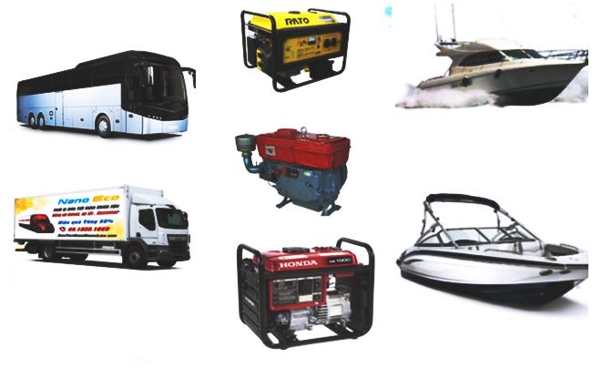 Hai sản phẩm chiến lược của dự án là NanoEco và HybridEco sử dụng cho các dòng động cơ công suất lớn như xe tải container, máy phát điện công nghiệp, tàu biển, tàu cá, máy công nông nghiệp