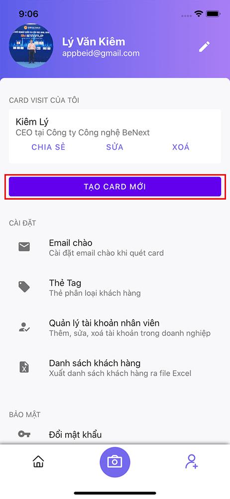 BeID - Ứng dụng Số hoá Card Visit