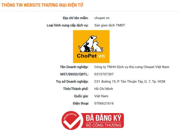 Công ty TNHH Dịch vụ Thú cưng Chopet Việt Nam