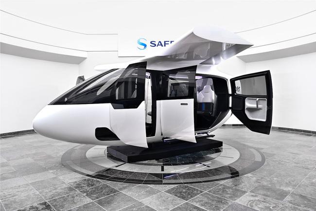 Bản mô phỏng đầy đủ nội thất taxi bay đầu tiên của hãng Uber. Nguồn: CNN